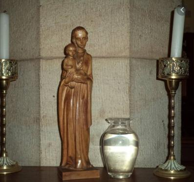 virgin mary statute in anglican church
